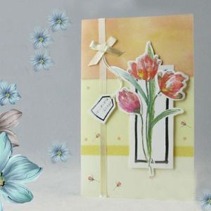 "Handcrafted gift card, ""HAPPY BIRTHDAY"", (CD133)"